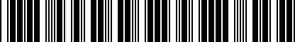 Barcode for 3B0071734