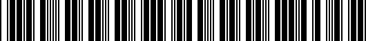 Barcode for 5G0071644GRU