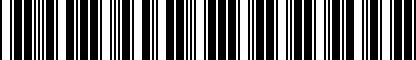 Barcode for NPN071112